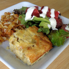 Chicken and Green Chile Crustless Quiche