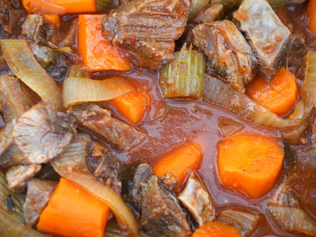 Beef Roast with Carrots and Onions