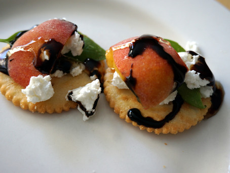 Peach, Basil, and Goat Cheese Appetizer