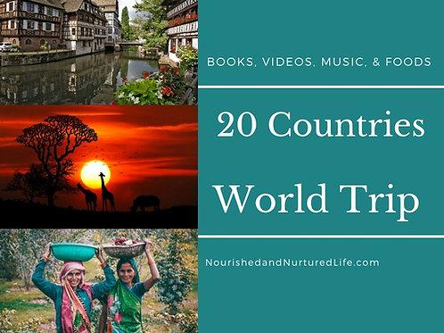 20 Countries! Homeschool World Trip Chart