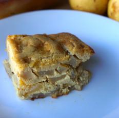 Ginger Pear Custard Cake (grain-free)