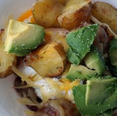 Potato and Bean Layered Bowl