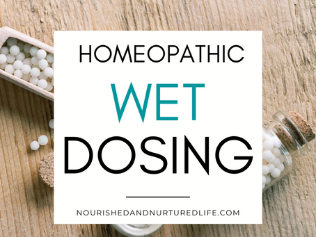 Homeopathic Wet Dosing for Acute Illnesses and Injuries