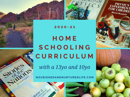 Our Homeschool Curriculum for 2020-2021 (with a 13-year-old and a 10-year-old)