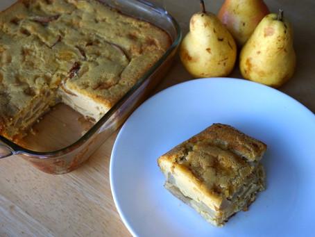 Ginger Pear Custard Cake (grain-free : gluten-free)