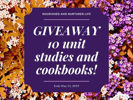 GIVEAWAY: 10 Unit Studies or Cookbooks!