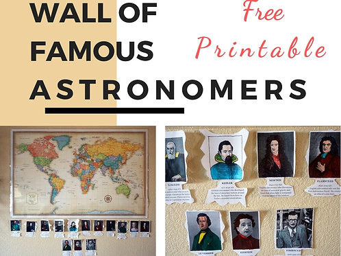 Wall of Famous Astronomers