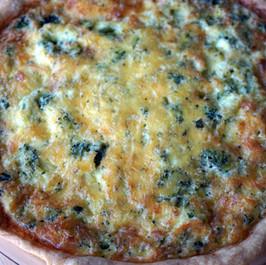 Broccoli Cheddar Quiche