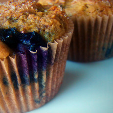 Blueberry Muffins Dusted With Cinnamon Sugar