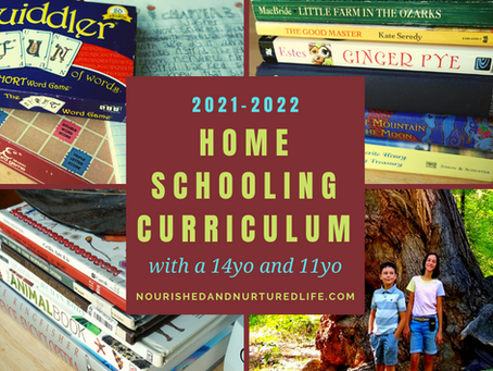 Our Homeschool Curriculum for 2021-22 (with a 14-year-old and an 11-year old)