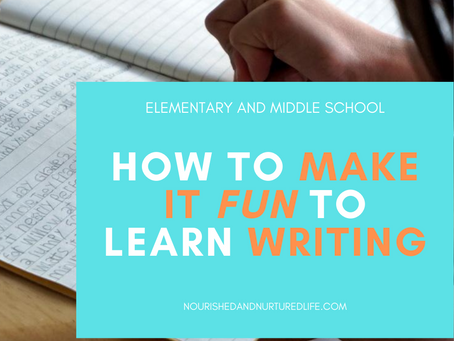 Teaching Elementary and Middle School Writing, without a Formal Curriculum