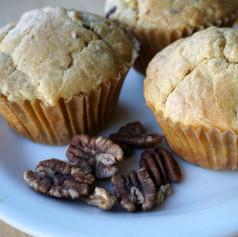 Sourdough Einkorn Banana Nut Muffins