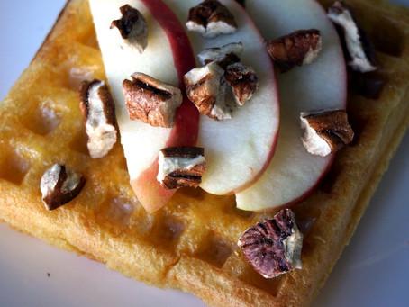 Sourdough Einkorn Waffles