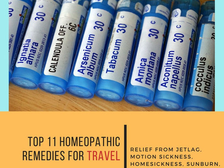 Top 11 Homeopathic Remedies for Travel