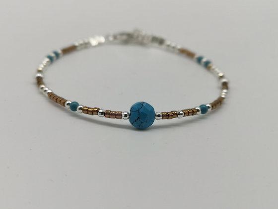 Bracelet Coco turquoise.