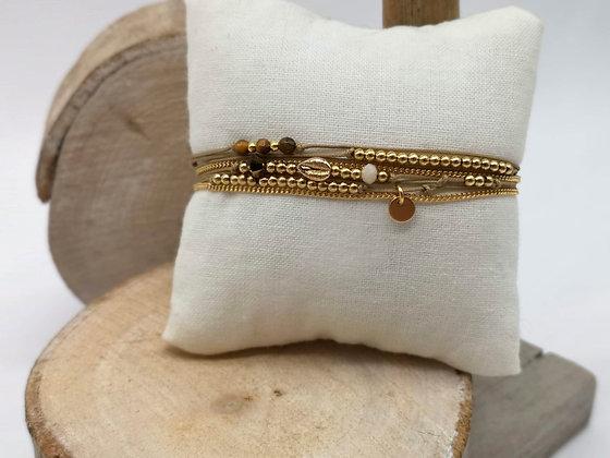 Bracelet Chloé plaqué or