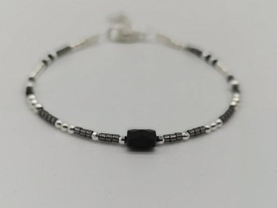 Bracelet Coco onyx noir.