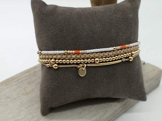 Bracelet Eléa orange