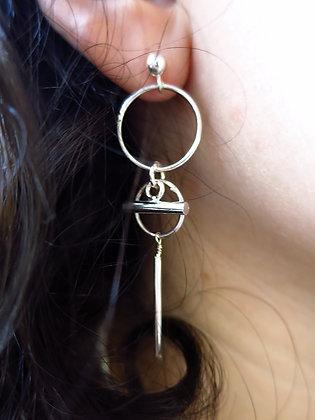 Boucles d'oreilles Graphic