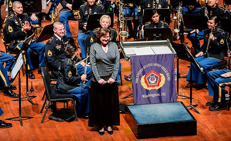 Julie Giroux conducing the US Army Field Band