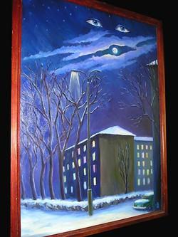 Зимняя ночь в Бишкеке