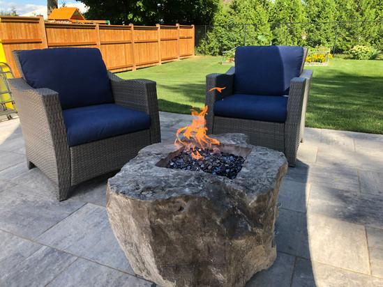 Custom designed Fire bowl features