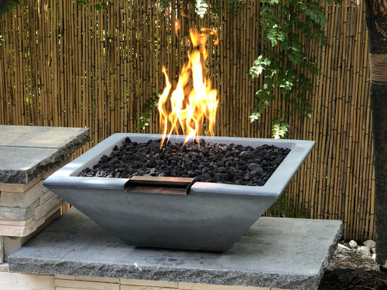 Fire Feature and bowls