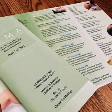 SOMA Spa brochure design