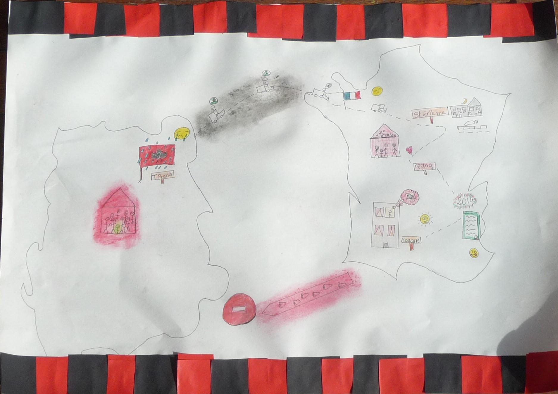 Carte du parcours de Darien