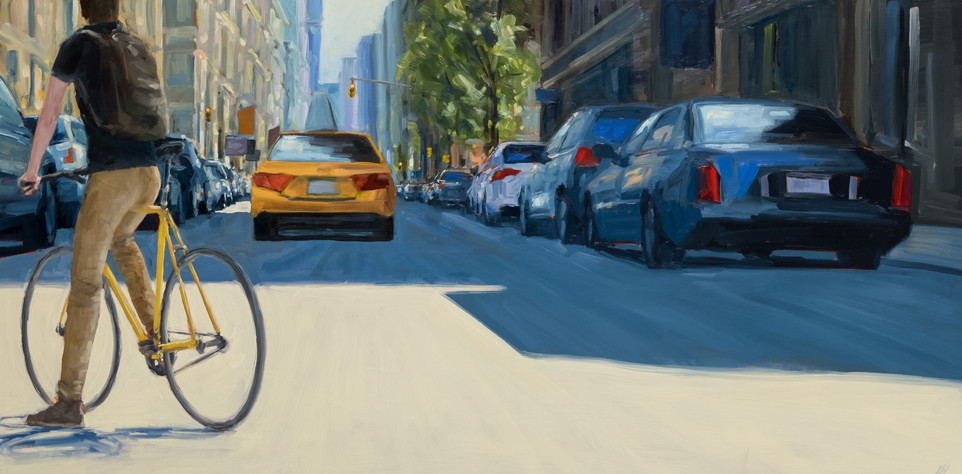 Approaching West Broadway on Spring St 20x40