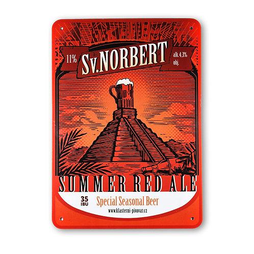 Plechová cedule Sv. Norbert Summer Red Ale