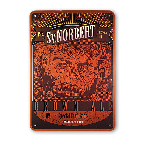 Sv. Norbert Brown Ale Metal Sign
