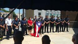 Raise PR flag at City Hall Camden
