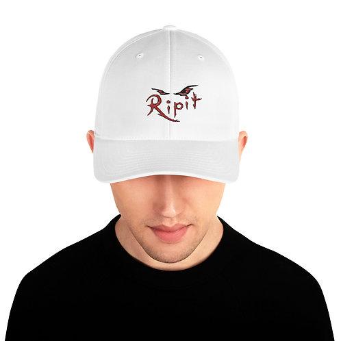 Black Ripit Logo Structured Twill Cap