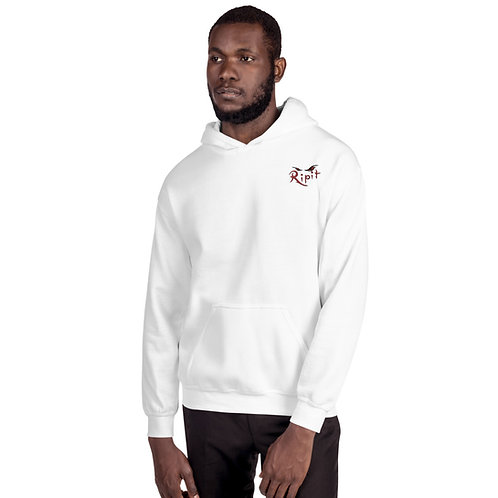 Ripit White & Red Unisex Hoodie