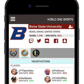 World One Mobile App Mock