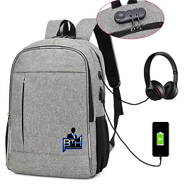 Locking laptop backpack