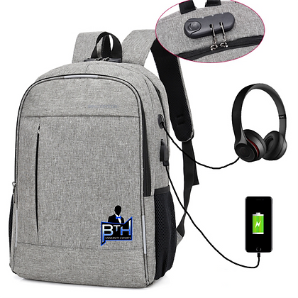 Logo'd Laptop Backpack