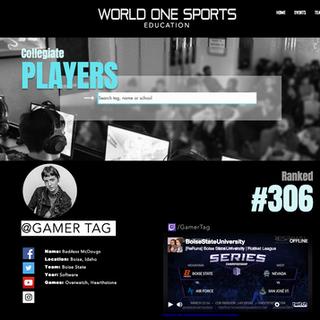 World One Sports Site Mock