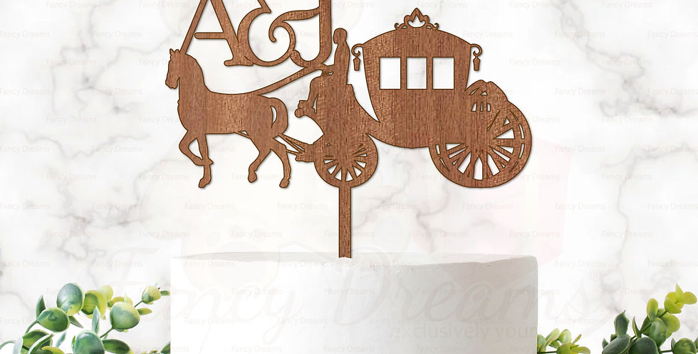 Horse Carriage & Initials