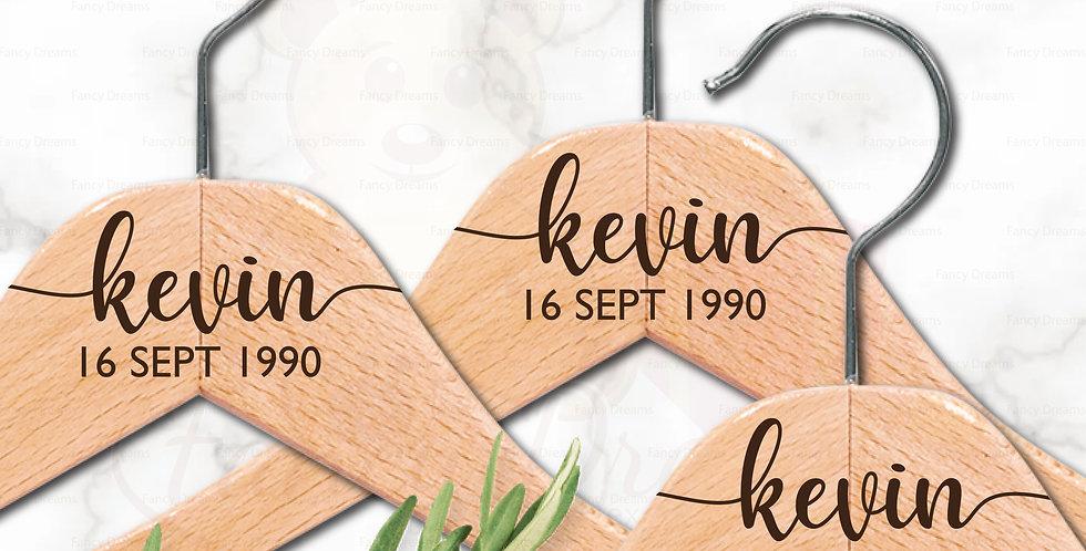 Name + Date Dress Coat Hangers (Set of 3pcs)