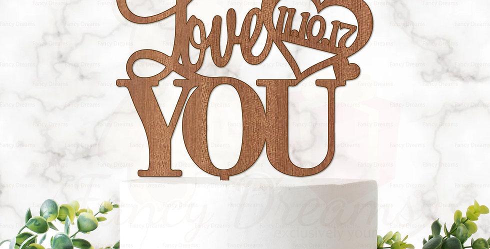 Love You + Heart & Date