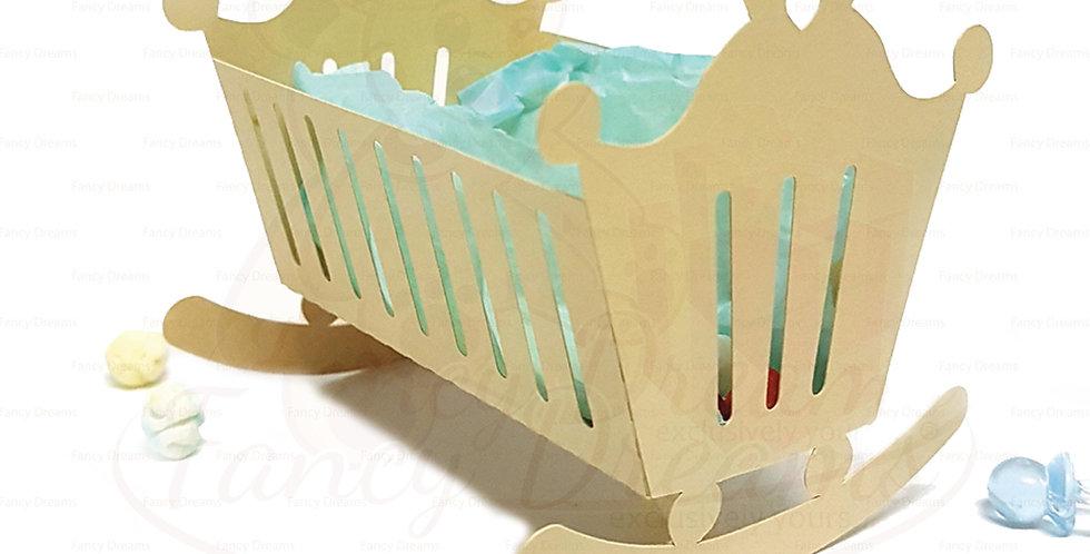 Baby Cradle Favor Box  (10pcs)