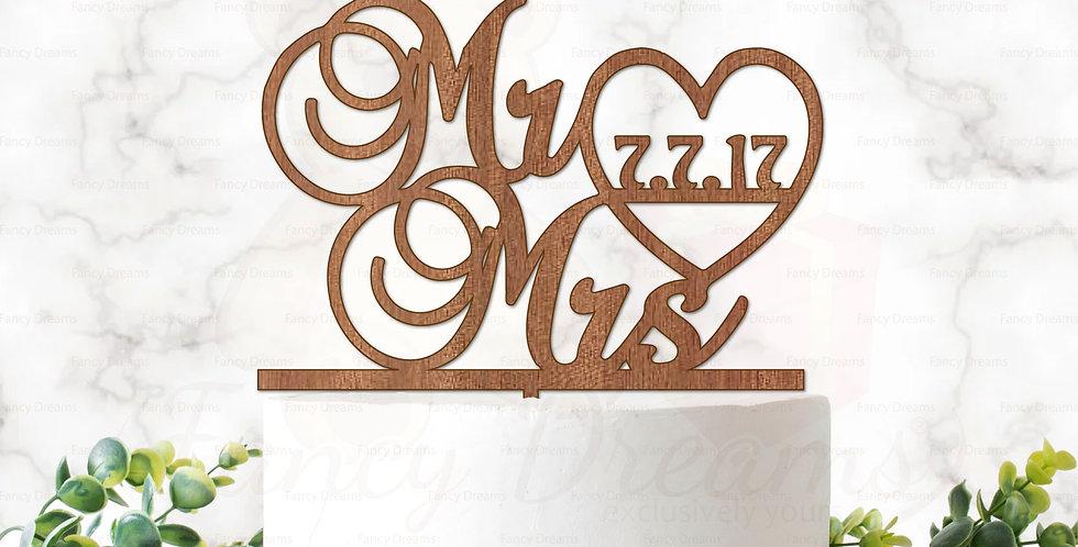 Mr & Mrs + Date in Heart