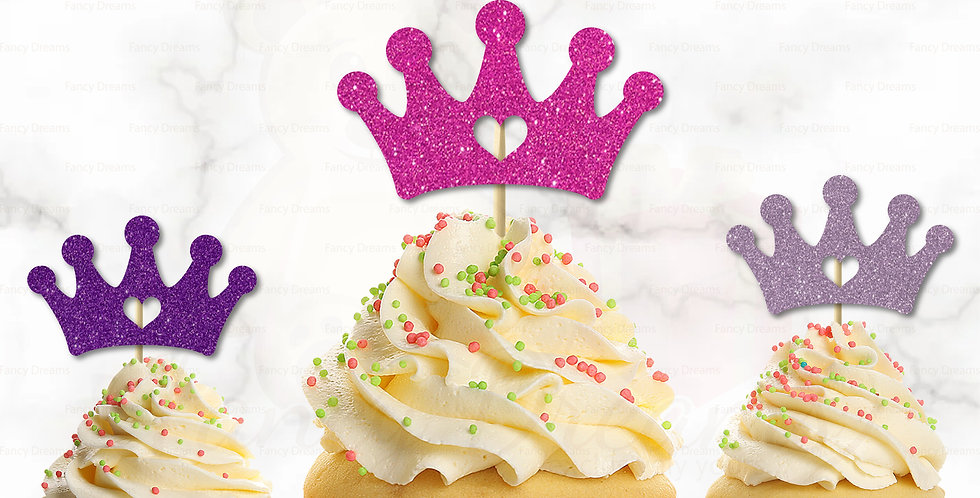 Crown + Heart Princess Royals (Pack of 10pcs)