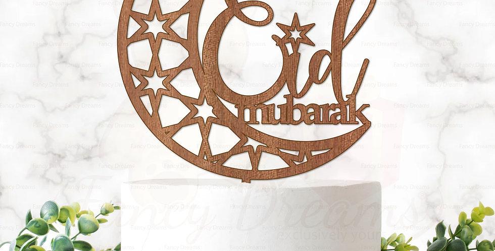 Eid Mubarak + Moon & Stars