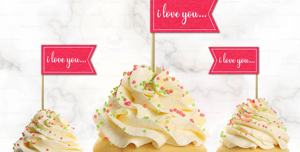 I Love You Banner (Pack of 10pcs)