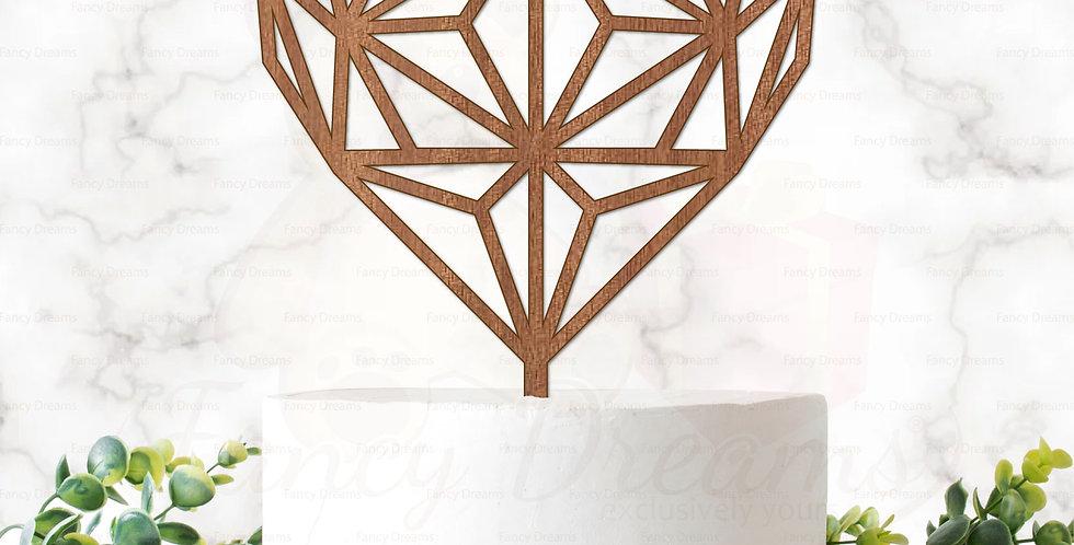 Geometric Heart + Diagonal Lines