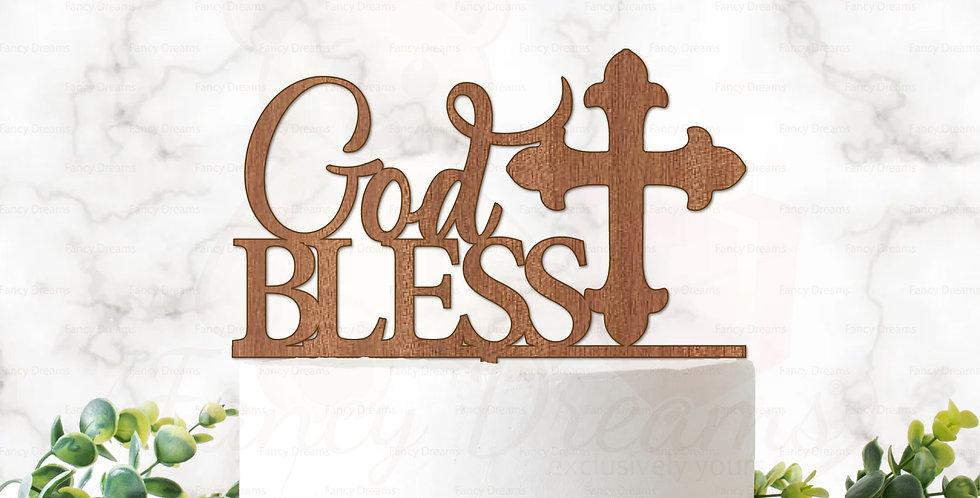 God Bless + Cross