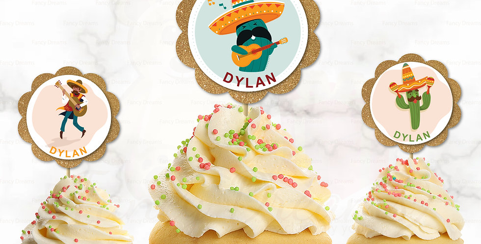 Cowboy Mexico Western Theme + Name   (Pack of 10pcs)